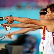 Модерен петобой - стрелба с пистолет