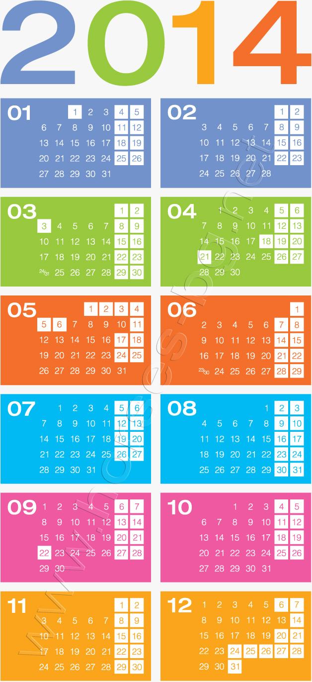 Официални празници и почивни дни през 2014 година